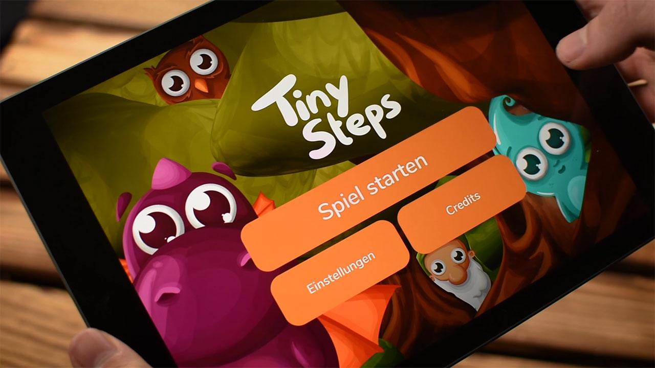 "Startbildschirm App ""Tiny Steps"""