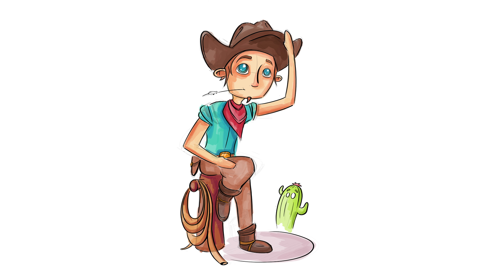 Illustration Cowboy